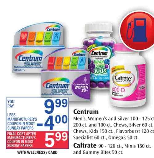 Centrum Multivitamins Printable Coupon