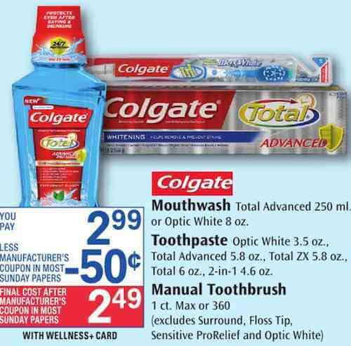 Mar 04, · $1/1 Colgate Total, Colgate Optic White or Colgate Enamel Health Toothpaste – oz or larger Even better, through March 10th, Walgreens is offering 4, Bonus Points ($4 reward) for buying two Colgate Toothpastes AND they are on sale 2/$6 (regularly $ each).