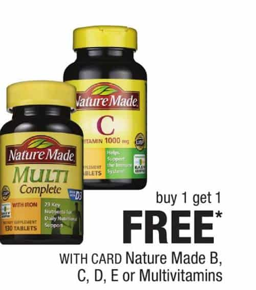 image relating to Nature Made Printable Coupons identified as Printable coupon codes character created nutrition - Discounts edinburgh mage