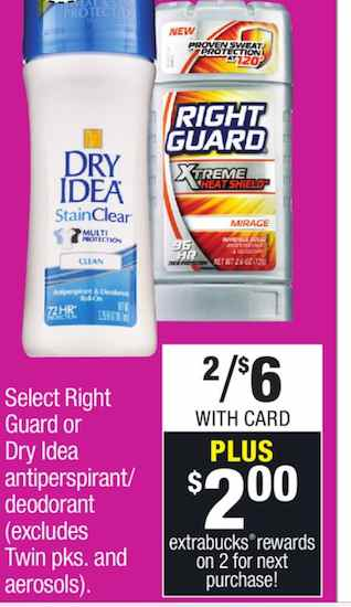 Right guard CVS Printable Coupon