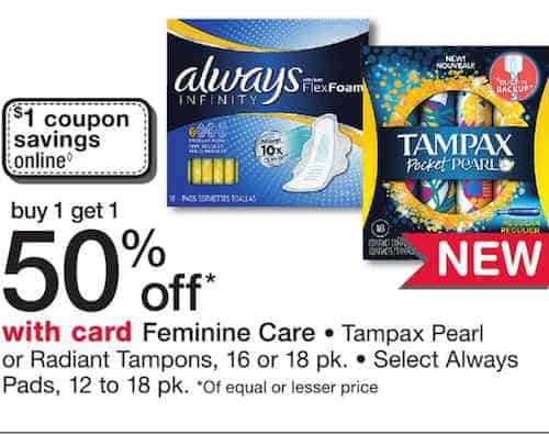 New! Tampax Pocket Pearl Products Only $2 24 At Walgreens