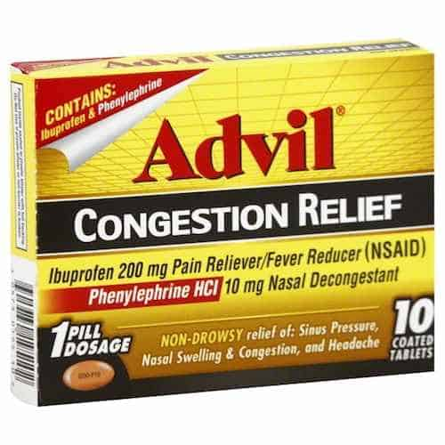 Advil Congestions Relief Printable Coupon