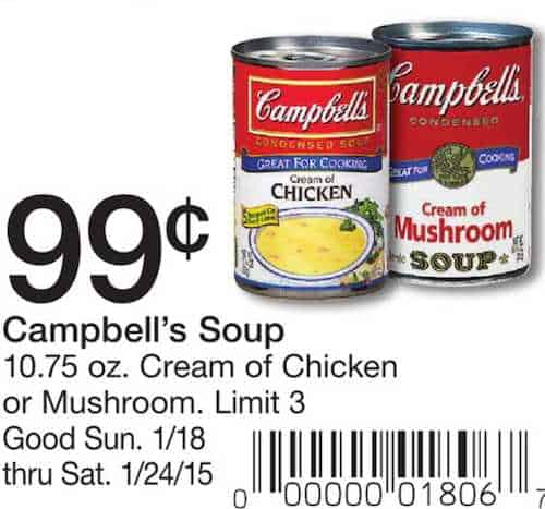 picture relating to Campbell Soup Printable Coupon named Campbells Fowl Noodle Or Tomato Soup Basically $0.59 each individual at