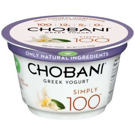 Chobani Simply 100 Greek Yogurt Printable Coupon