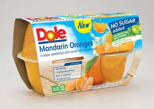 DOLE No Sugar Added Fruit Bowls