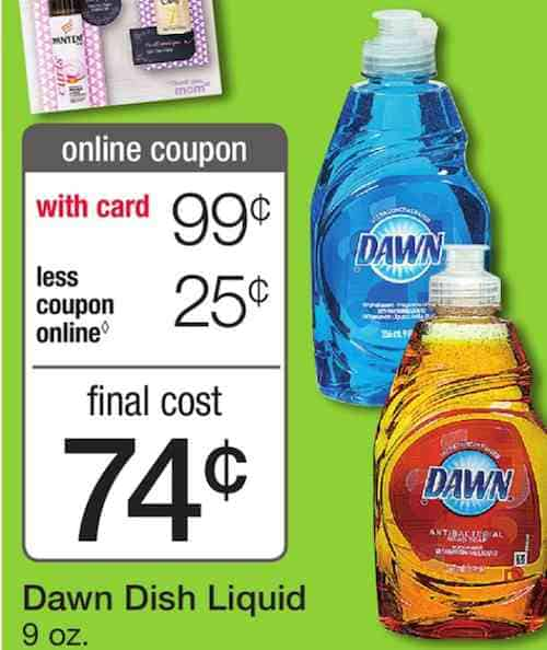 graphic regarding Dawn Printable Coupon called Sunrise Liquid Cleaning soap Merely $0.74 At Walgreens Following Sale and