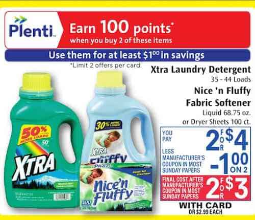 Printable coupons for washing powder