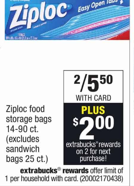 picture relating to Ziploc Printable Coupons named Ziploc Luggage Basically $1.25 At CVS At the time Sale, Printable Coupon