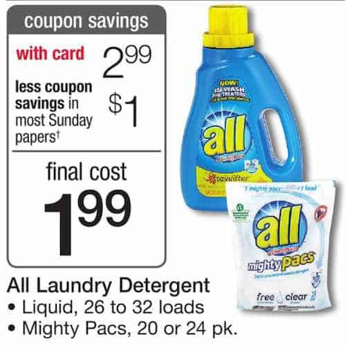 all detergent Printable Coupon