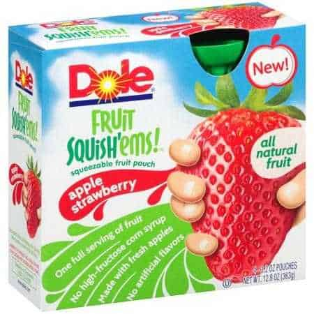 Dole Fruit Squish'ems Printable Coupon