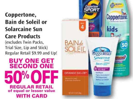 Coppertone sunscreen coupons printable