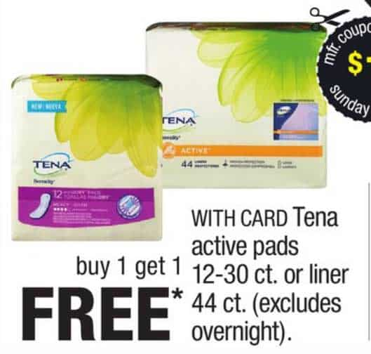 Tena $5 coupon printable