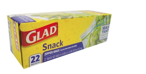 Glad Snack Bags Printable Coupon
