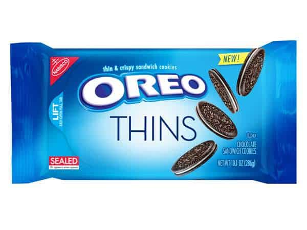 image relating to Nabisco Printable Coupons titled Nabisco Oreo Thins Cookies Merely $1.89/Each individual At Aim Following