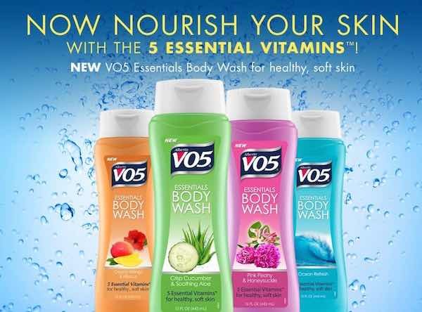 VO5 Body Wash Printable Coupon