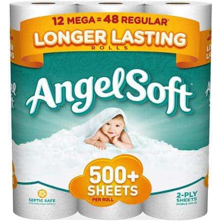 Angel Soft Bath Tissue 12pk Mega Roll Printable Coupon