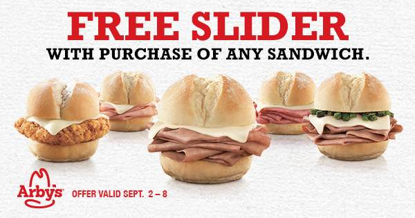 arbys sliders coupon