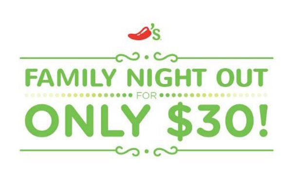 graphic about Chilis Printable Coupon named Chilis Relatives Evening Out - Printable Coupon codes and Bargains