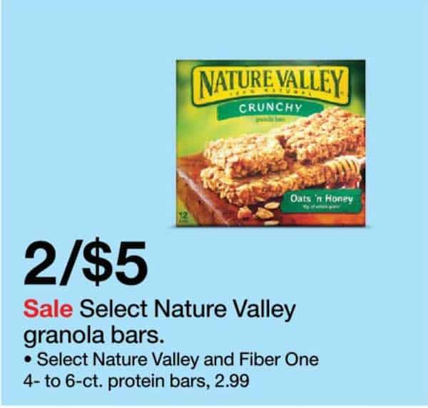 Sorry, no Nature Valley offers currently available.