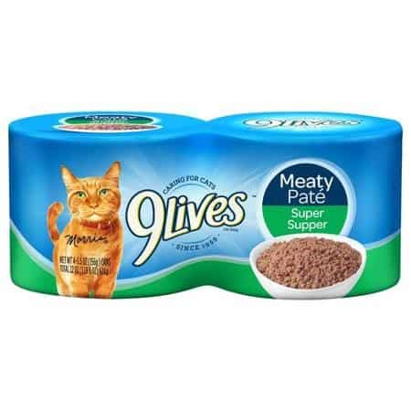 9Lives Wet Cat Food 4pk Printable Coupon
