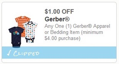 Gerber Baby Clothes Printable Coupon