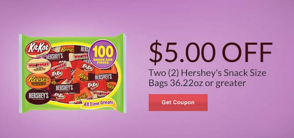 Hershey's Snack Size Bags Printable Coupon