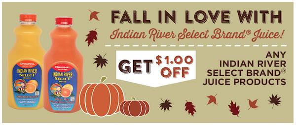 Indian River Select Brand Juice Products Printable Coupon