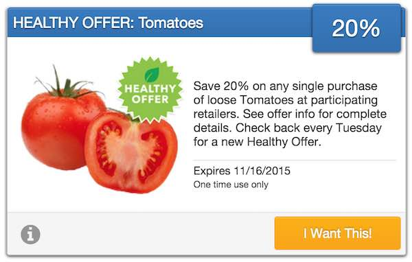 Loose Tomatoes SavingStar Offer Coupon