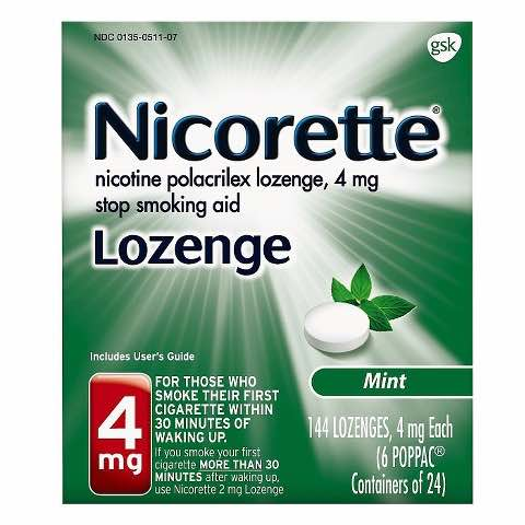 Nicorette Lozenge 144ct Printable Coupon