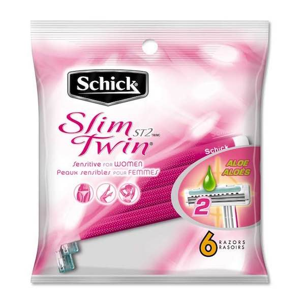 Schick Slim Twin ST2 Sensitive for Women Disposable Razors 6ct Printable Coupon