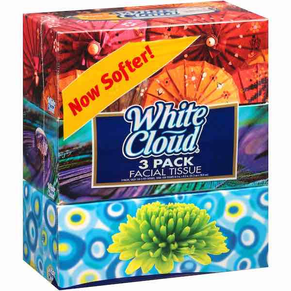 White Cloud Facial Tissue Printable Coupon