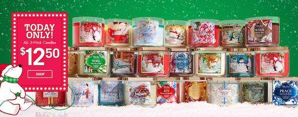 Bath & Body Works 3-Wick Candles Printable Coupon