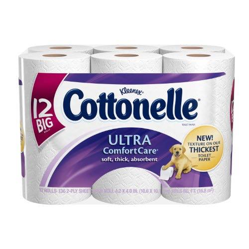 Cottonelle Large Roll Bath Tissue 12ct Printable Coupon