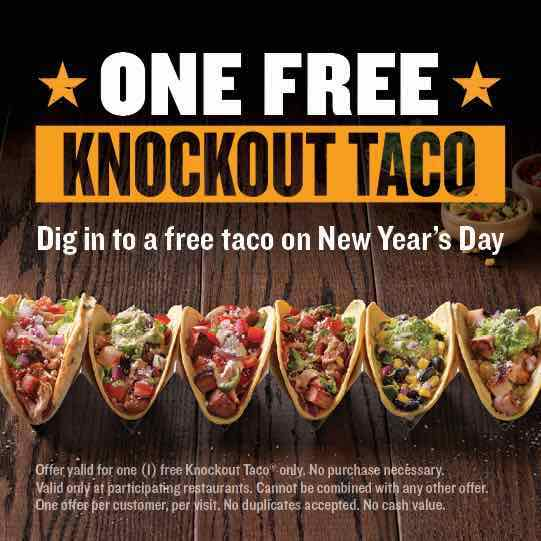 photograph about Qdoba Printable Coupons named Ring Within just The Clean Yr With Free of charge Tacos At Qdoba Upon January 1st