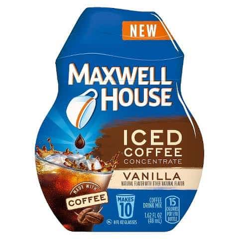 photo relating to Maxwell House Coupons Printable titled MAXWELL Household Iced Espresso Aim Printable Coupon