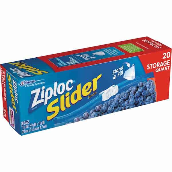 Ziploc Slider Food Storage Bags 20ct Printable Coupon