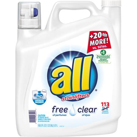 All Liquid Laundry Detergent 169.5oz Printable Coupon