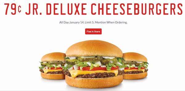 Jr Deluxe Cheese Burgers Printable Coupon