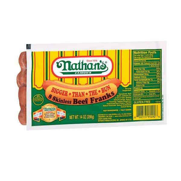 Nathan's Famous Beef Franks with Printable Coupon Printable Coupon