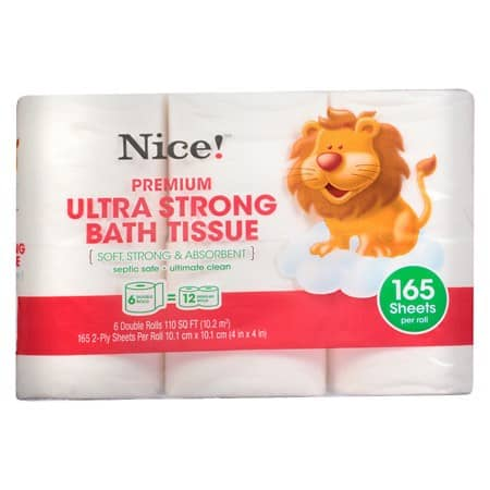 Nice! Ultra Strong Bath Tissue 6 Double Rolls Printable Coupon