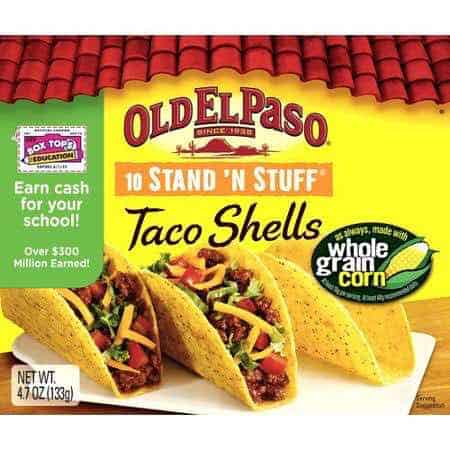 Old El Paso Stand 'N Stuff Taco Shells Printable Coupon