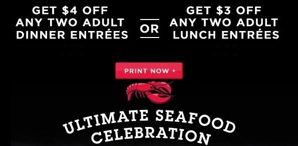 Red lobster discount coupon