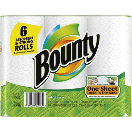 Bounty Paper Towels 6ct Printable Coupon