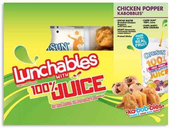 Lunchables Lunch Combinations With 100% Juice Printable Coupon
