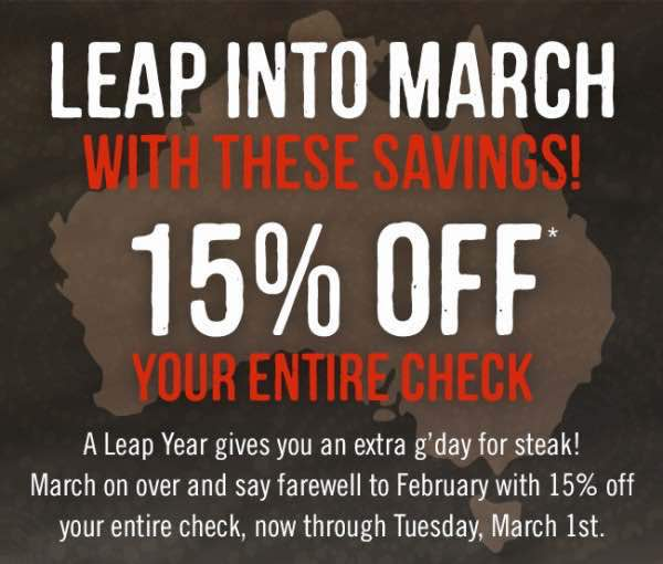 photograph about Outback Coupons Printable identify Impression Outback? Receive 15% Off Your Total Verify Upon Lunch Or