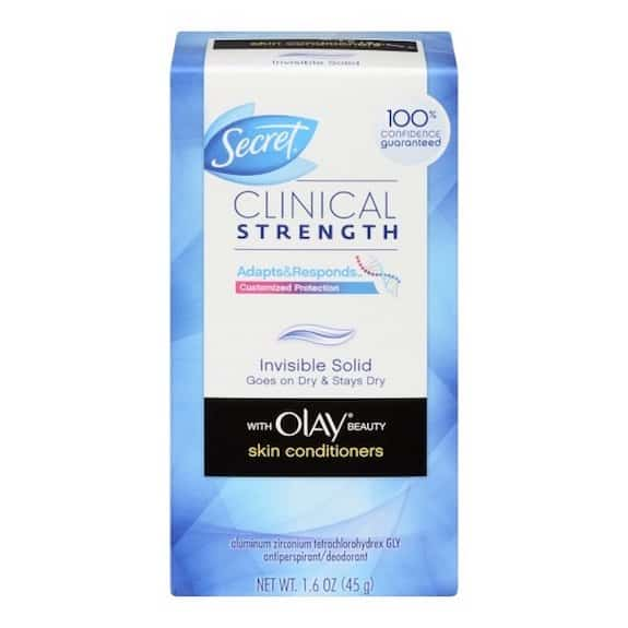 Secret Clinical Invisible Solid with Olay Deodorant Printable Coupon