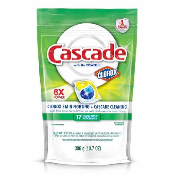 Cascade with the Power of Clorox Product Printable Coupon