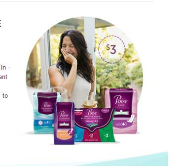 graphic about Poise Printable Coupons identified as WOW - 4 Refreshing Poise $3.00 Printable Discount coupons - Printable