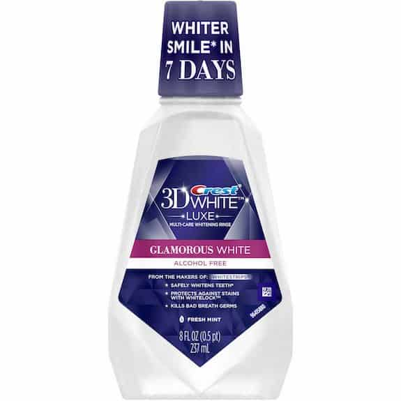Crest 3D White Luxe Mouthwash 237ml Printable Coupon
