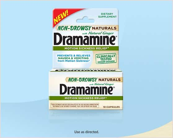 Dramamine Non-Drowsy Naturals Product Printable Coupon